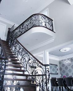 Wrough Iron Staircase Custom Stairway