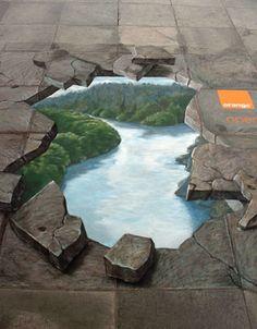 I just love sidewalk art. 3d art by manfred stader #creative #creativity