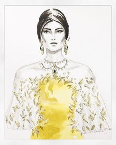 Bell of the ball. X Another gorgeous drawing by @olia.lmb from our #fw16marchesa collection! To have your artwork featured use the tag #marchesafanfriday. #marchesa @georginachapmanmarchesa @kerencraigmarchesa by marchesafashion