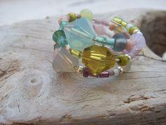 """Spiralring+""""Frühlingsfarben""""+von+Balkonketten+auf+DaWanda.com"""