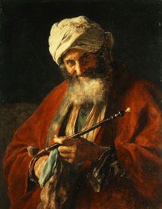 Oriental Man with a Pipe, 1874 by Nikolaos Gyzis Greece) Greek Paintings, National Gallery, Academic Art, Arabic Art, Guy Drawing, Woman Drawing, Drawing Ideas, Post Impressionism, Greek Art