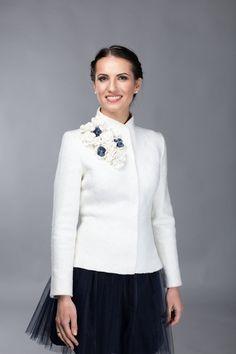 Wedding jacket -  bridal jacket - felted jacket  - felted wool jacket for Women