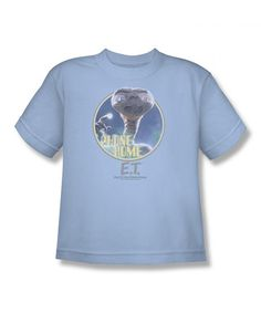 Take a look at this Light Blue 'Phone Home' Tee by Trevco on #zulily today!