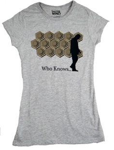 Doctor Who Who Knows Juniors Tee (Large Heather Grey) @ niftywarehouse.com #NiftyWarehouse #DoctorWho #DrWho #Whovians #SciFi #ScienceFiction #BBC #Show #TV