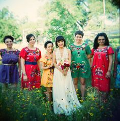 A Bohemian Mexican-American Wedding: Felicia & Ariel--Super cute wedding party!