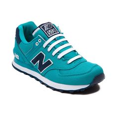 Shop for Womens New Balance 574 Athletic Shoe, Turquoise, at Journeys Shoes. New Balance Athletic Shoes are back and better than ever! Zapatos New Balance, New Balance Sneakers, New Balance Shoes, New Balance Style, New Balance 574, New Balance Women, Sneaker Boots, Shoes Sneakers, New Balance Runners
