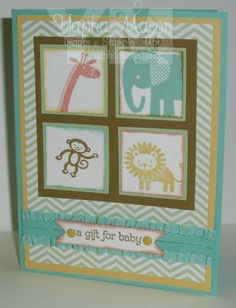 Zoo Babies four square by Yapha - Cards and Paper Crafts at Splitcoaststampers