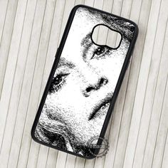Marilyn Monroe Painting Black and White - Samsung Galaxy S7 S6 S5 Note 7 Cases & Covers