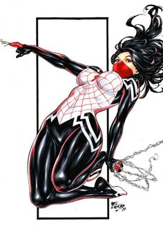 Drawing Marvel Comics Silk by Fredbenes - Dark Beauty - Marvel Dc Comics, Marvel Art, Marvel Heroes, Marvel Women, Marvel Girls, Comics Girls, Comic Books Art, Comic Art, Spiderman Kunst