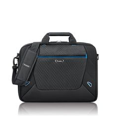 """SOLO Tech Collection Laptop Slim Brief for 16-Inch Notebook Computers (TCC104-4/20) Padded compartment protects laptops up to 16"""". Quick access pocket. Polyester body with padded carry handles. Removable/adjustable shoulder strap. Rear Ride Along strap for consolidated travel."""