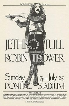 Hippie Posters, Rock Posters, Robin Trower, Rock Album Covers, Vintage Concert Posters, Classic Rock And Roll, Jethro Tull, Best Rock, Guns