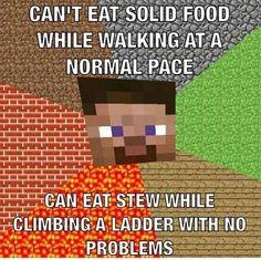 Minecraft logic. Got to love it.