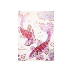 Koi Carp Stencil (2.685 RUB) ❤ liked on Polyvore featuring backgrounds, animals, fish, pink and asian