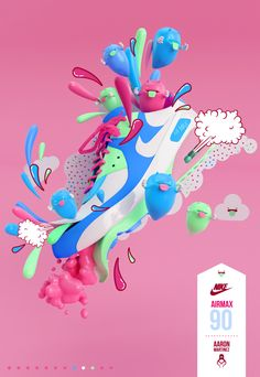 NIKE AIRMAX 90 by AARON MARTINEZ, via Behance