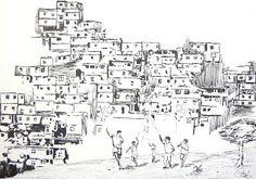 Gabriel Gavioli: Quadro - Pipa na Favela
