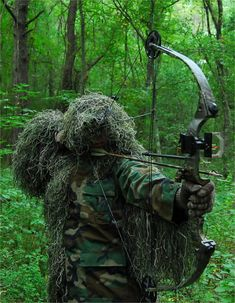 Picked one of these ghillie suits up for the hubby a few years back. lol He loved it.