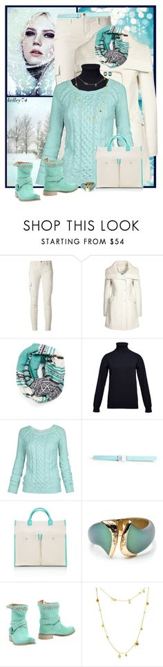 """""""Winter Mint"""" by kelley74 ❤ liked on Polyvore featuring J Brand, Michael Stars, ESK Valley, Fat Face, Christopher Kane, Tiffany & Co., Alexis Bittar, Chiara Ferragni, Auren and Kara Ross"""