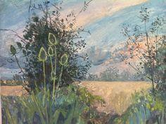 'Hedgerow, Charlbury', egg tempera on gesso board, 43 x 36cm