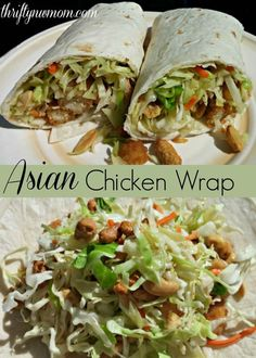 Asian Chicken Wrap 2. If you are looking for a super easy healthy lunch time recipe, or a great meal for a busy weeknight, try these Asian Chicken Wraps. You can really use any type of chicken in them, but we used Milford Valley Chicken Strips to keep it really simple!