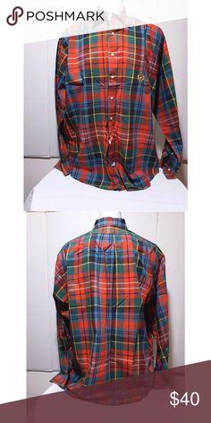 1a92a709975a Polo Ralph Lauren XL Multicolor Plaid Crest Shirt