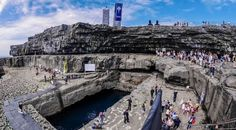 Inis Mor, Aran Islands The Worm Hole (location for the Redbull cliff diving) http://www.deepbluediving.org/