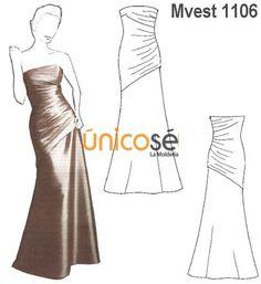 811317e44e Las 29 mejores imágenes de Moldes Vestidos de Fiesta Largos