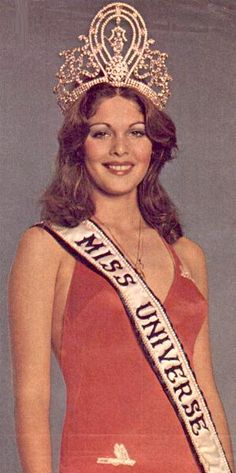 Rina Messinger (Israel) - Miss Universe 1976. Height - 176 cm, measurements: bust - 90, waist - 60, hips - 90