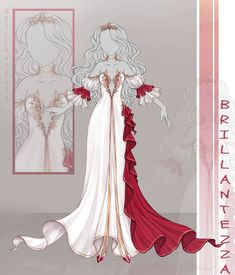 (CLOSED) Adoptable Outfit- 034 by butterjellyfish on DeviantArt Dress Design Drawing, Dress Drawing, Drawing Clothes, Clothing Sketches, Dress Sketches, Fashion Design Drawings, Fashion Sketches, Anime Girl Dress, Fantasy Gowns