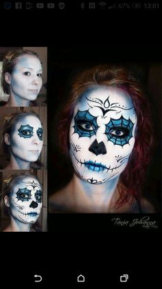Day of the Dead Makeup Sugar Skull / Day of the Dead MakeupTania Johanna - Mak . - Day of the Dead Makeup Sugar Skull / Day of the Dead MakeupTania Johanna – Mak … - Yeux Halloween, Halloween Make Up, Halloween Face Makeup, Vintage Halloween, Halloween Costumes, Sugar Skull Halloween, Maquillage Sugar Skull, Day Of Dead Makeup, Sugar Skull Makeup Tutorial