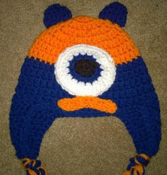 Handmade crochet Monster hat. Will fit 6months to by darstar5