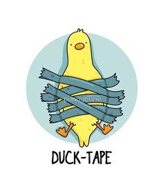 "'Duck Tape Animal Pun' by punnybone 'Duck Tape Animal Pun' by punnybone,Why am I laughing at this ? ""Duck Tape Animal Pun"" by punnybone Funny Food Puns, Punny Puns, Cute Jokes, Cute Puns, Funny Cute, Funny Jokes, Hilarious, Funny Doodles, Cute Doodles"