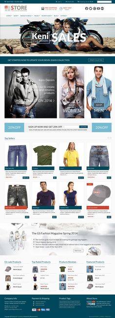 GoodStore is a feature-rich WooCommerce Responsive Theme with endless customization options. GoodStore is integrated with RevoComposer that lets you to cus Well Designed Websites, Best Wordpress Themes, Wordpress Shop, Web Design Tools, Joomla Themes, Website Layout, Web Design Inspiration, Ecommerce, Website Designs