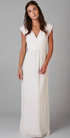Wedding Dress - Casual garden wedding dress - or find a short white/silver/ivory bridesmaid dress.