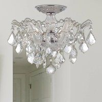 Shop for Maria Theresa 16 inch Golden Teak Crystal Ceiling Light Shabby Chic Luxe - Medium Semi-Flush Mount. Get free delivery On EVERYTHING* Overstock - Your Online Ceiling Lighting Store! Get in rewards with Club O! Clear Light Bulbs, Light Bulb Types, Crystal Ceiling Light, Ceiling Lights, Cheap Chandelier, Chandeliers, Candelabra Bulbs, Antique Lamps, Lighting Store