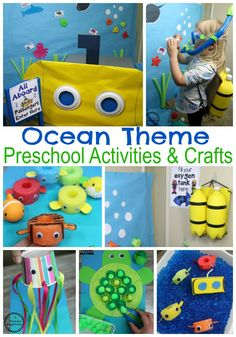 Under the Sea Theme Join our Email Group for Ideas, Freebies & Special Offers.Would your preschool kids love an Under the Sea theme dramatic play center? Sea Activities, Preschool Themes, Preschool Activities, Indoor Activities, Water Animals Preschool, Water Theme Preschool, Preschool Farm, Preschool Christmas, Preschool Kindergarten