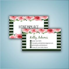 Honey & Lace Business Card Custom Honey and Lace Business
