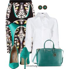 """""""No. 297 - Turquoise"""" by hbhamburg on Polyvore"""