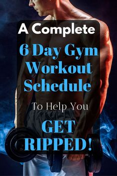 This 6 day gym workout schedule will help you build muscle like no other routine could. Discover the secrete workout behind Arnold Schwarzenegger's success. Workout Schedule For Men, Workout Programs For Men, Gym Training Program, Full Body Workout Routine, Best Workout Plan, Arnold Workout Plan, Fitness Programs, Workout Routines, Jump Workout