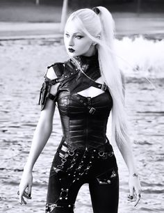 Gothic Outfits, Edgy Outfits, Fashion Outfits, Hot Goth Girls, Gothic Girls, Dark Fashion, Gothic Fashion, Gothic Corset, Black Corset