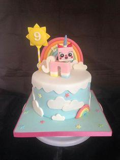 Unikitty cake Lego Movie Cake, Lego Movie Birthday, Lego Friends Birthday, Lego Movie Party, 9th Birthday Parties, Birthday Ideas, 7th Birthday, My Daughter Birthday, Bday Girl