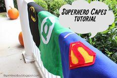 Lil' Sprinkles of Joy: No Sew Superhero Cape Tutorial