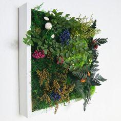 Tableau végétal stabilisé sans entretien kukkä 25 x 25 cm