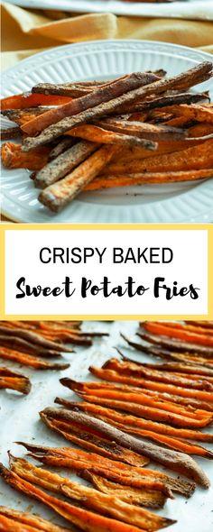 Crispy Baked Seasoned Sweet Potato Fries