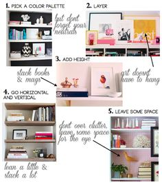 how to decorate your shelves