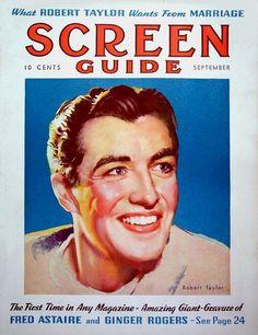 Robert Taylor - Screen Guide, Sept, 1936
