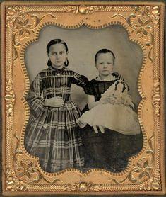 2 GIRLS WITH A WEDDING DRESS DOLL AMBROTYPE ANTIQUE PHOTO | eBay Daguerreotype, 2 Girl, Antique Photos, Girls Wear, Old Things, Dolls, Antiques, Wedding Dresses, Children