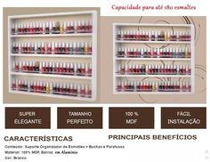 Porta 180 Esmaltes Novo Expositor Nicho Prateleira Manicure - R$ 89,00 em Mercado Livre