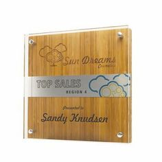 """Shimmer Bamboo Accent Award Plaque 10""""x10"""" Directory Signs, Custom Trophies, Award Plaques, Trophy Design, Corporate Gifts, Plexus Products, Laser Engraving, Woodworking, Design Ideas"""