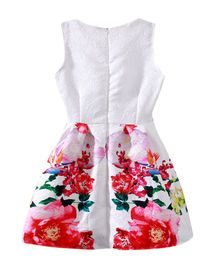 Sleeveless Floral Embossing Mini Dress img