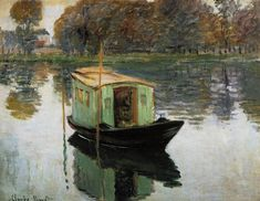 Claude Monet - The studio boat (1874)